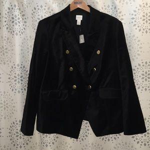 Velvet military style jacket Chico's size 3